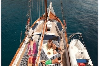 Sail Yacht ELEFTHERIA -  Deck From Above