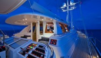 Sail Yacht HYPERION -  Cockpit at Night