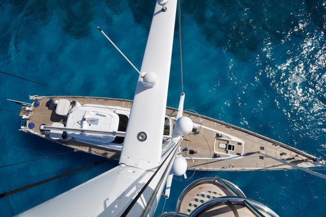 Sail Yacht HYPERION -  From Above