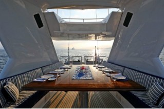 Sail Yacht MILO -  Al fresco Dining on Sundeck