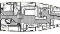 Sail yacht BILLY BUDD -  Layout