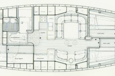Sail yacht COPIHUE -  Layout