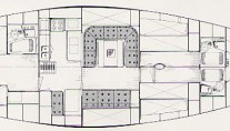 Sail yacht MARGAUX -  Layout