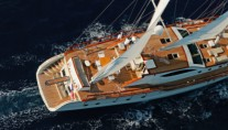Sail yacht MISS B - From Above