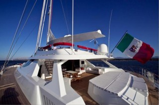 Sailing Catamaran LA SELLA DEL DIAVOLO -  Aft Deck and Sunpads