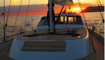Sailing Yacht ASIA -  Sunset