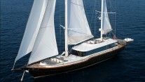 Sailing Yacht Infinity -  From above