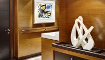 Sailing Yacht Kokomo III - Interior detail With Art