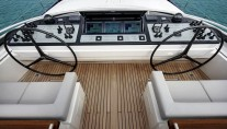 Sailing Yacht Kokomo III - The Flybridge Helm and Sail Controls