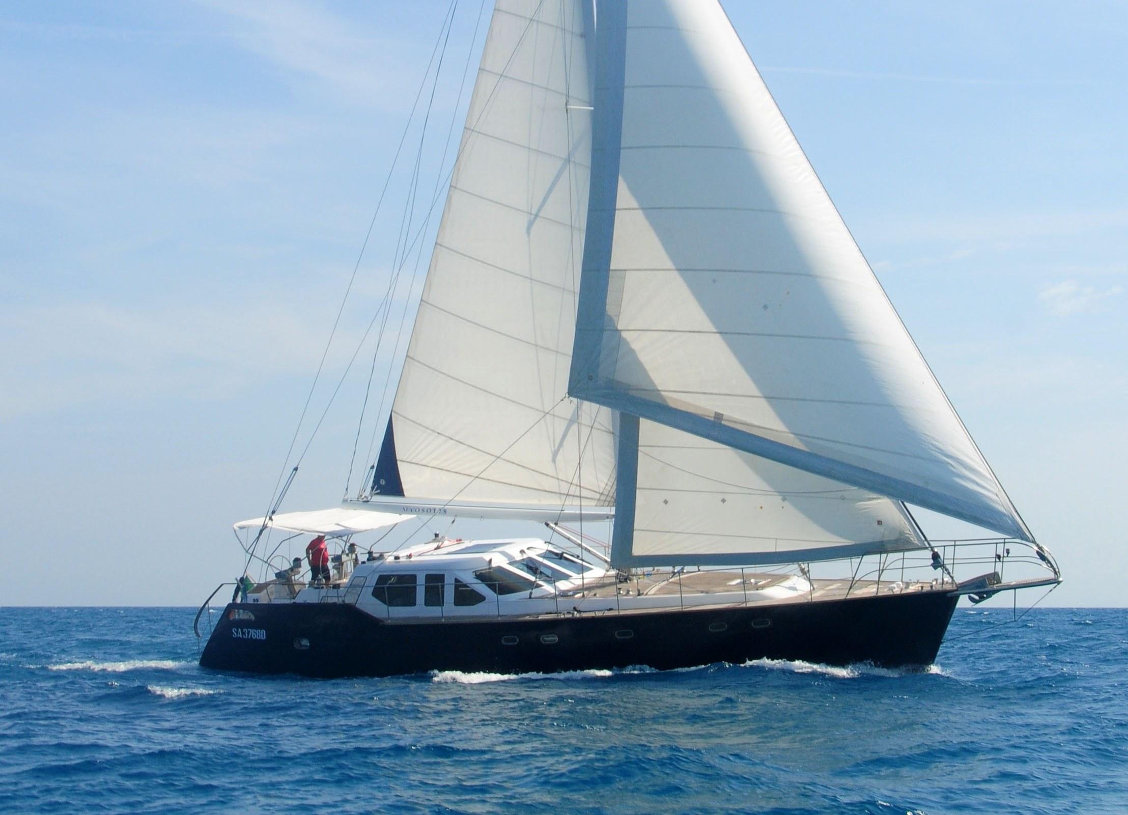 Sailing yacht Myosotis...