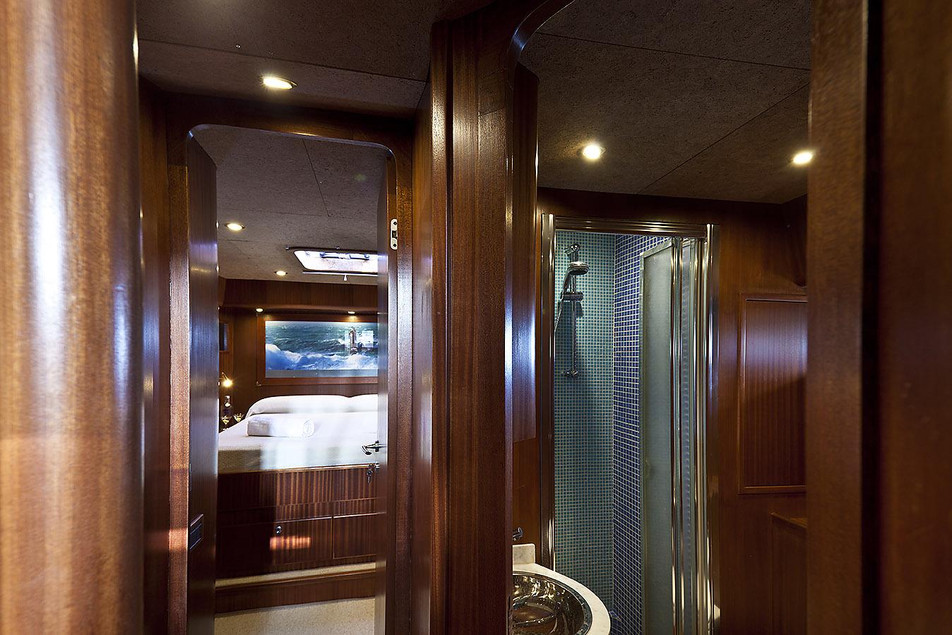 Sailing Yacht Myosotis Master Cabin And Bathroom