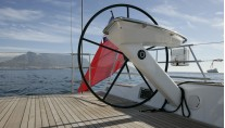 Sailing Yacht Thalima - One of the two carbon steering wheels
