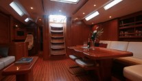 Sailing yacht ALPINA -   Salon looking Aft