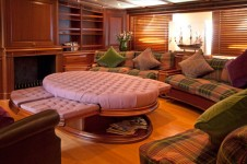 Sailing yacht ATHOS -  Main salon