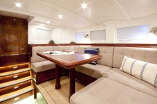 Sailing yacht Annagine - Upper Salon looking aft