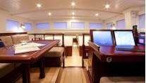 Sailing yacht Annagine - Upper Salon looking forward 2
