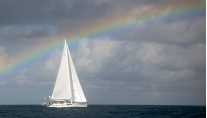 Sailing yacht Archangel -  Under a rainbow