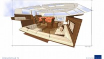 Sailing yacht Bougainville - Saloon Aft View-001