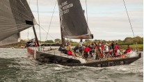 Sailing yacht Comanche under sea trials - Photo by George Bekris via Scuttlebut Sailing News