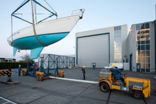 Sailing yacht FLYER back at Royal Huisman yard