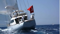 Sailing yacht GLORIOUS -  Aft View