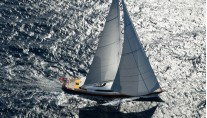 Sailing yacht Helios from above