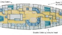 Sailing yacht ILITHYIA -  Layout