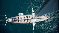 Sailing yacht INFATUATION - From Above