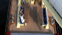 Sailing yacht KESTREL -  On Deck Convertible table