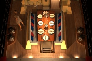 Sailing yacht KESTREL -  On deck dining