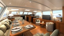 Sailing yacht KESTREL -  Salon