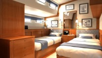 Sailing yacht KESTREL -  Twin Cabin