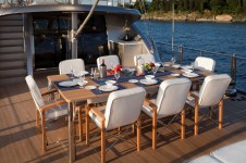Sailing yacht Merlin -  Aft Deck Dining