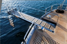 Sailing yacht Merlin -  Boarding Ladder and diving board