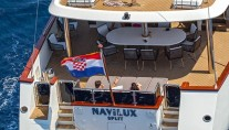 Sailing yacht NAVILUX -  Aft View of Swim Platform