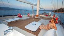 Sailing yacht NAVILUX -  Sundeck Dining and Lounging