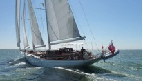 Sailing yacht Neorion under her first sea trial - Photo credit to Oliver van Meer Design BV