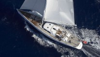 Sailing yacht Nephele -  View of Sailing from Above