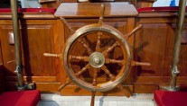 Sailing yacht Oriander -  Wheel