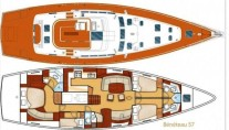 Sailing yacht POINT 02 -  Layout