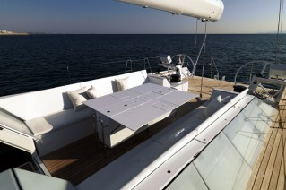 Sailing yacht POLYTROPON II -  Cockpit and Dining