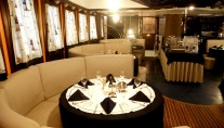Sailing yacht RUNNING ON WAVES -  Formal Dining area