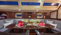 Sailing yacht SAVARONA - Formal dining