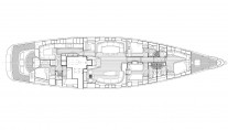 Sailing yacht SAVARONA - Layout