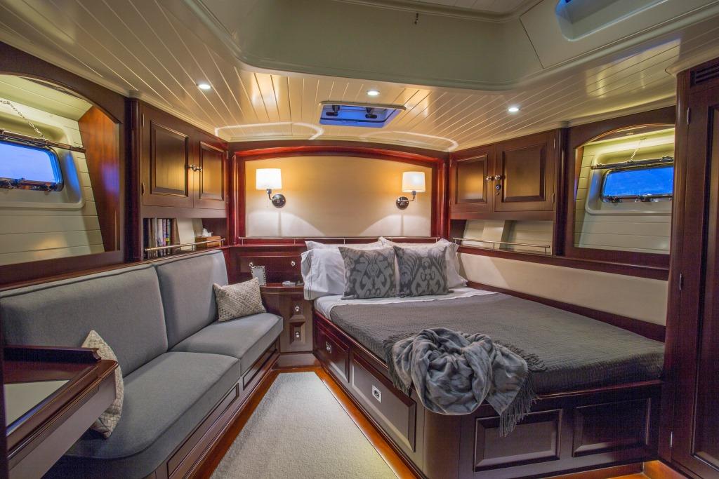 Sailing yacht SAVARONA - Master cabin