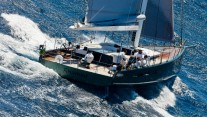 Sailing yacht SHAMLOR -  Aft View