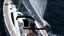 Sailing yacht SHOOTING STAR -  Aft View)