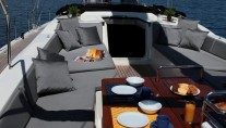 Sailing yacht SHOOTING STAR -  On Deck Dining