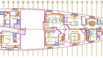 Sailing yacht Sarissa -  Layout
