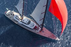 Sailing yacht Seahawk from above
